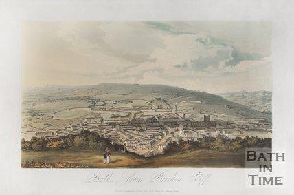Bath, from Beechen Cliff 1827