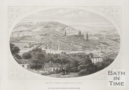Bath, from Beechen Cliff 1858