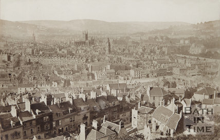 Bath from Beechen Cliff c.1864