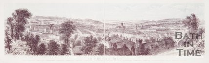 View of Bath from Beechen Cliff c.1860