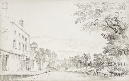 A view of the Merlin Chapel from Holloway looking towards Bath 1802