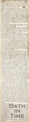 Newspaper article. Magdalen Hospital Holloway. August 12th 1854.