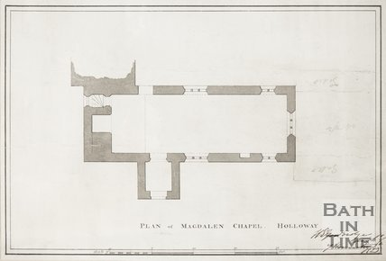 Floor plan of Magdalen Chapel, Holloway 1823?
