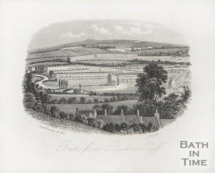 Bath, from Beechen Cliff, June 1854