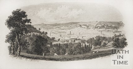 View of Bath, taken near Prior Park c.1846