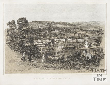 Bath from Beechen Cliff, c.1851