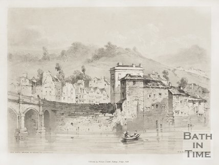 The Old Bath Bridge &c, Before the Alterations c.1839