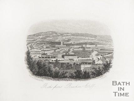 Bath from Beechen Cliff, 1855.