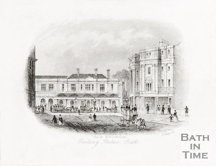 Railway Station, Bath c.1850