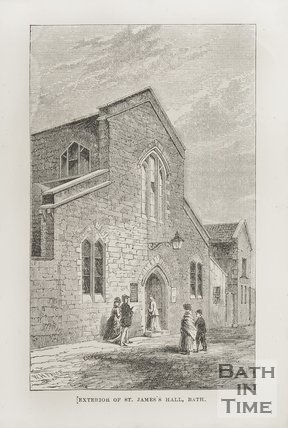 Exterior of St James Hall c.1870