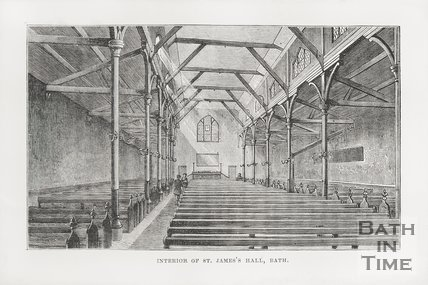 Interior of St James Hall c.1870