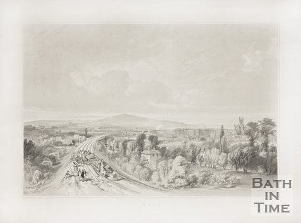Approach to Bath Station from the East c.1840