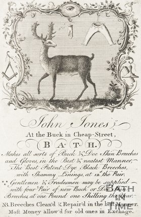 Poster advertising for John Jones The Book in Cheap Street. Bath.