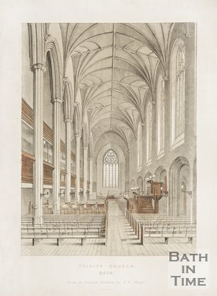 Interior of Trinity Church, Bath 1845
