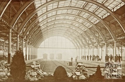 Photograph of the Interior of Green Park Station c.1870?