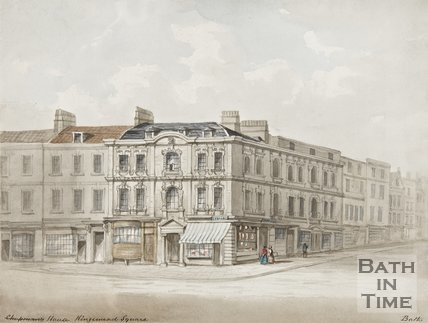 Watercolour of Rosewell House, Kingsmead Square