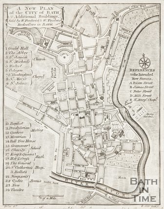 A New Plan of the City of Bath with the New Additional Buildings c.1770?