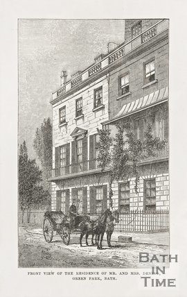 Front view of the residence of Mr and Mrs Dening, Green Park c.1873