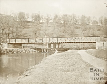The Midland Railway bridge  over the River Avon at Kelston, c.1870