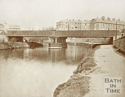 Midland Railway Bridge crossing the River Avon to Green Park Station, c.1870