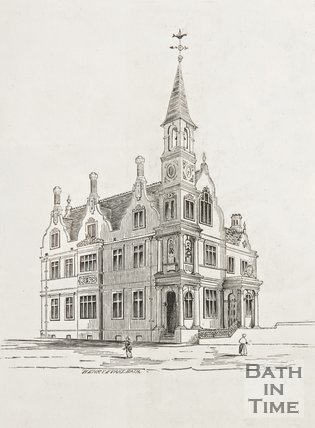 Blue Coat School, Upper Borough Walls, Sawclose, Bath, 1860