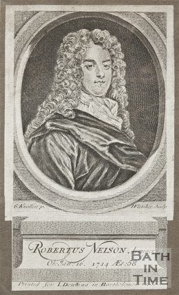 Portrait engraving of Robertus Nelson