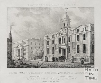 Blue Coat Charity School and Bath Hospital c.1830