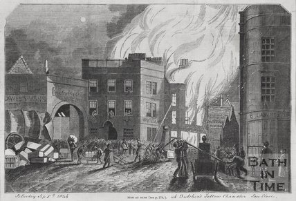 Fire at Mr. Butchers soap and candle factory, Sawclose September 1846