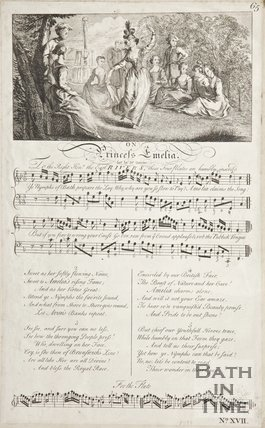A music sheet on Princess Amelia.