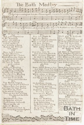 A music and lyric sheet of the Bath Medley