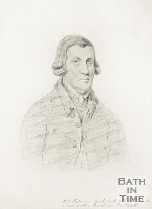 Pencil sketch of Mr John Palmer, architect of the Bath Theatre and other buildings in Bath.