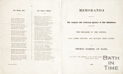 Extract 1 of 4. A leaflet entitled Memoranda Relative to the Original and Celebrated Picture of The Woodman 1846.
