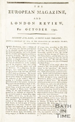 The European Magazine and Review for October 1791.