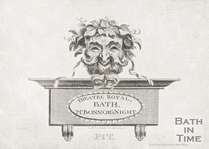 A ticket to the Theatre Royal Bath, Mr Bonnors Night, 1770.