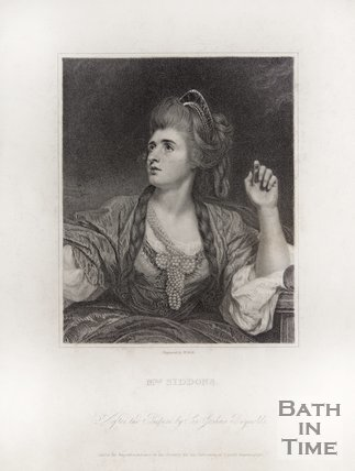 A portrait of Mrs Sarah Siddons.