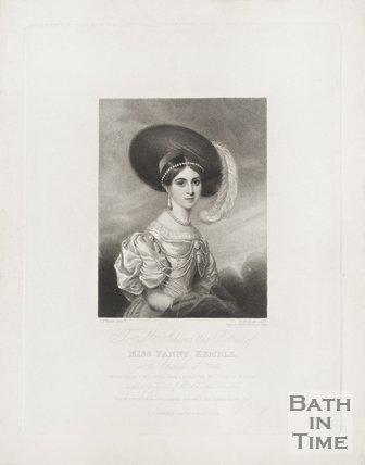 A portrait of Miss Fanny Kemble, 1831.