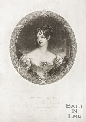 A portrait of Mrs Waylett of the Theatre Royal, Haymarket, January 1830.