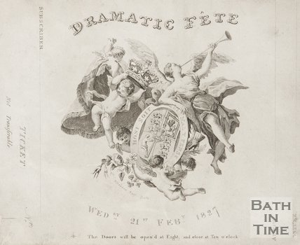 A ticket to the Dramatic Fete at the Theatre Royal, 1827.