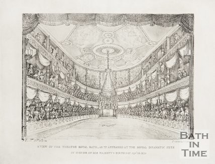 A View of the Theatre Royal, as it Appeared at the Royal Dramatic Fete, in Honour of His Majestys Birthday 1824