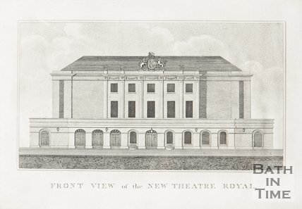 Front view of the New Theatre Royal 1807