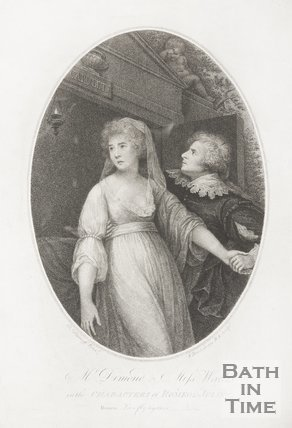 Mr Dimond and Miss Wallis, as the characters of Romeo and Juliet. May 1796.