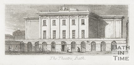 The Theatre Royal, Bath, 1824.