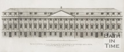 The Elevation to the South, of the principle Pile of Building of Queen Square in Bath 1728