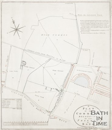 Plan of the Commons belonging to the Freemen of Bath