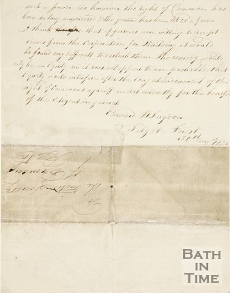 A letter to Mr Mackenzie from Edward Sugdon copied out by Page George (town clerk) concerning building on the Bath Commons, 1835