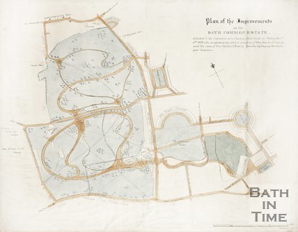 Plan of the Improvements on the Bath Common Estate 1829.
