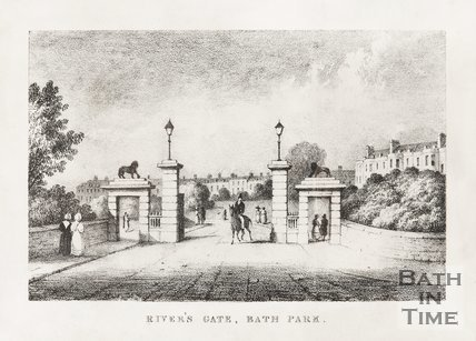 Rivers Gate, Royal Victoria Park c.1835.