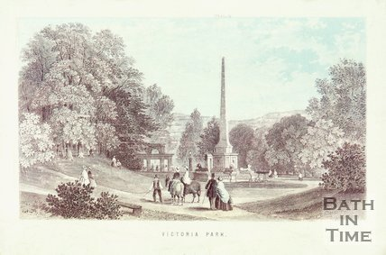 Victoria Park and obelisk c.1861.