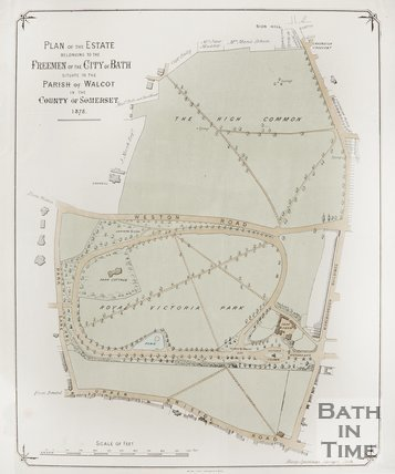 Plan of the estate belonging to the Freemen of the City of Bath situate in the Parish of Walcot in the County of Somerset, 1875