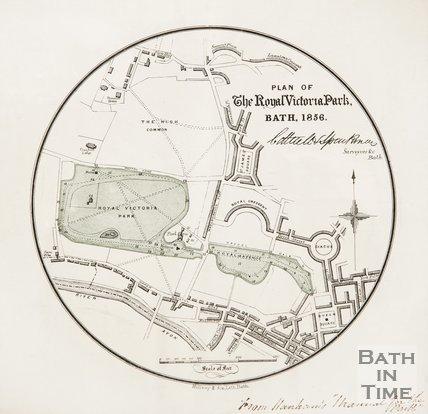 Plan of the Royal Victoria Park, Bath, 1856.